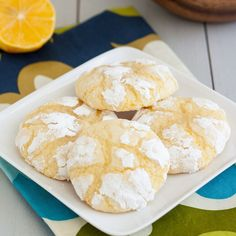 Meyer Lemon Crinkle Cookies by Tracey's Culinary Adventures