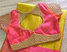 Elegant Designer Fancy Sari Blouse Designs - The Handmade Crafts Blouse Back Neck Designs, Kids Blouse Designs, Simple Blouse Designs, Stylish Blouse Design, Fancy Blouse Designs, Indian Blouse Designs, Sari Design, Air Jordan 3, Nike Zoom