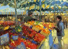 """""""Fruit Market"""" - Original Fine Art for Sale - © Nigel Fletcher"""
