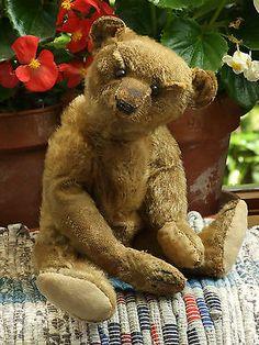 Antique Vintage Steiff Mohair Teddy Bear c.1910 with Button in Ear