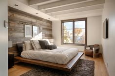 Awesome Deco Chambre Rustique that you must know, You?re in good company if you?re looking for Deco Chambre Rustique Farmhouse Master Bedroom, Cozy Bedroom, Bedroom Decor, Bedroom Ideas, Bedroom Furniture, Furniture Ideas, Master Bedrooms, Bedroom Colors, Wall Decor