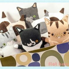 Happy Caturday! Custom cat plushies now available.