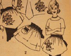 Patrón delantal retro con dos faldas INSTANT por WhimsyColor
