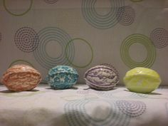 4 Glazed Lace Easter Eggs. $12.60, via Etsy.