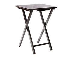 Mesa plegable en madera DM - marrón