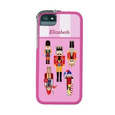 Cute Nutcrackers Soldiers with Custom Name iPhone 5/5S Cases