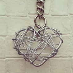 Wire Heart Keychain Charm by chochotlate on Etsy, £6.99