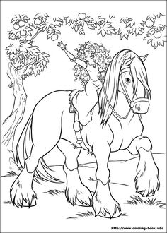 free coloring pages with disney characters brave free printable coloring pageskids - Coloring Book Pages For Toddlers
