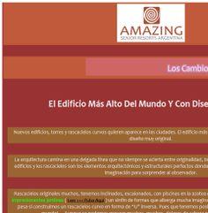 AMAZING Senior Resorts - El Edificio Más Alto Del Mundo Y Con Diseño Original