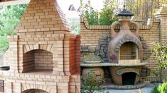modele gratare de caramida Brick Ovens, Grill Design, Outdoor Kitchen Design, Bbq Grill, Kitchen Ideas, Pergola, Outdoor Structures, Places, Projects