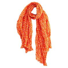 Orange Scarf.