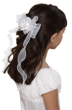 online shopping for Us Angels Organza Bow Barrette (Little Girls & Big Girls) from top store. See new offer for Us Angels Organza Bow Barrette (Little Girls & Big Girls) Latest Hairstyles, Diy Hairstyles, Wedding Hairstyles, Wedding Hair And Makeup, Bridal Hair, Communion Hairstyles, First Communion Dresses, First Communion Hair, Biracial Hair