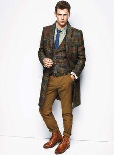 Sean O'Pry | Le 31 Automne/Fall 2012 | Le paletot carreaux écossais | Simons