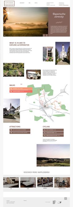 internal page. highlights activities in the area + features a map