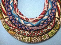 Thick bead crochet ropes in wonderful patterns