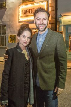 """Sarah Greene and Aidan Turner pictured at The Intouchables during the Subtitle Film Festival. Photo: Pat Moore."""