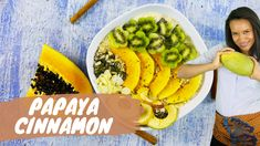 Check out Keesha's delicious Papaya breakfast with Kiwi, Cinnamon! That's how winners start their day;) Check out the recipe on www.keeshaskitchen.com Kiwi, Avocado Toast, Food Videos, Cinnamon, Tropical, Breakfast, Check, Recipes, Craft
