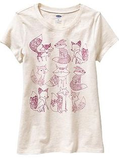 Girls Animal-Graphic Tees | Old Navy