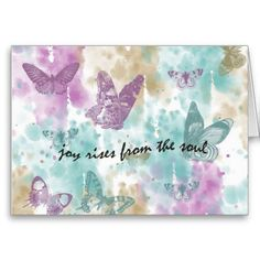 Joy Rises from the Soul Greeting Card