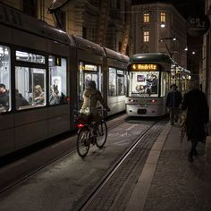 The trams in #Graz are quiet and cool and perfect for a #lifesizedcity . #tram #cycling by copenhagenizer