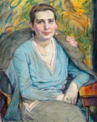 Wolf Thorn, Джули (1868 Торунь - Берлин 1931). Marta Джон опустил голову, сидя на полу фигурка с umgelegter меховую куртку