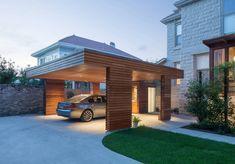 Garage & shed by studiowta - Carports - Carport Designs, Garage Design, Roof Design, House Design, Design Room, Carport Sheds, Carport Garage, Garage Closet, Car Garage