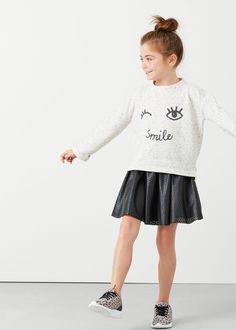 Laser-cut skirt -  Kids   MANGO Kids USA