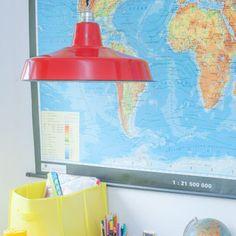 Fabriklampe im Kinderzimmer Boys Room Enamel Lamp lautentico  Emaille Lampe Enamel Lamp Fabriklampe Industrielampe lautentico