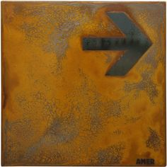 Tableau rouillé 1 - Rust Painting by Amer