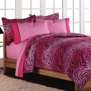 Loft Style Wild One Pink Bed in a Bag Bedding Set