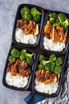 20 Minute Meal-Prep Chicken and Broccoli #chickenrecipeshealthymealprep