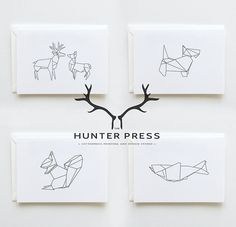 thehunterpress: New Range: Scottish Origami Stationery