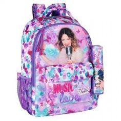 ecd080ac86e Disney Violetta School Backpack Kids Children Purple Back To School  Backpacks