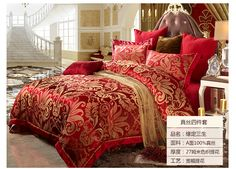 Silk bedding sets with fashion prints and jacquard