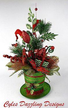 Christmas Centerpiece-Top Hat-Centerpiece-Elf legs-Table
