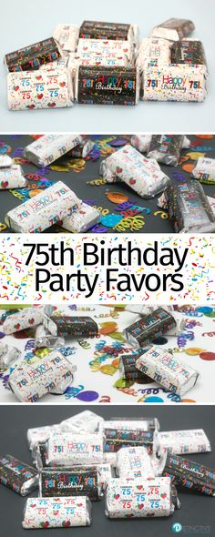 Say Congrats On Turning 75 Make Your Own DIY Happy 75th Birthday Party Treats By