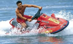 """Relive Jason Momoa's time as a Hawaiian lifeguard during his two-season and a movie stint on """"Baywatch: Hawaii."""""""
