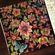 """Johanna Basford's new book """"Magical Jungle"""" was being sent me by staedtler. Thank you so much for coloring book and pencils🙏🏼☺❤️❤️❤️ Jungle Coloring Pages, Adult Coloring Book Pages, Colouring Pages, Coloring Books, Colored Pencil Tutorial, Colored Pencil Techniques, Magical Jungle Johanna Basford, Enchanted Forest Book, Secret Garden Coloring Book"""