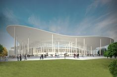 Andrea Maffei Architects. Ruch Chorzow stadium, Chorzow, Poland (2013) - design proposal