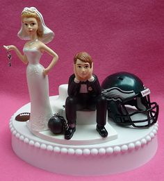 Wedding Cake Topper Philadelphia Eagles Football Themed by WedSet, $59.99