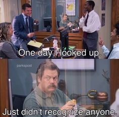 Ron Swanson -- Parks and Recreation.