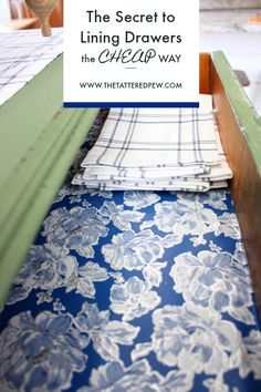 It& spring break for me this week and I have had all kinds of fun doing little projects around the house Today I wanted to share one of those projects with you the secret to lining dresser drawers the cheap way! Click below to check it out! Lining Kitchen Cabinets, Kitchen Cabinet Liners, Kitchen Drawers, Lining Dresser Drawers, Diy Drawers, Fabric Drawers, Diy Drawer Liners, Shelf Paper, Modern