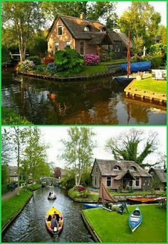 Giethoorn, Holland. The town with no roads