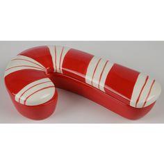 Candy Cane Ceramic Storage Canister | Sturbridge Yankee Workshop