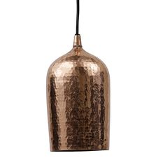 copper hammered ceiling pendant cup by lindsay interiors | notonthehighstreet.com