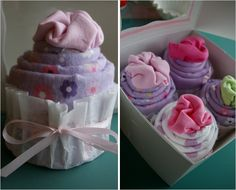 Going to baby shower? Cute onesie cupcakes make great gift
