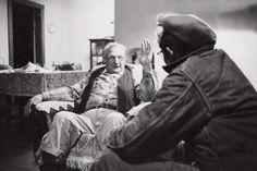 Con su abuelo Charlie Dean