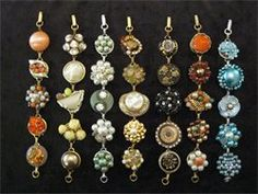 A great way to recycle vintage clip on earrings - I received one of these as a gift and I love it!
