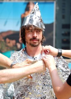 "Dave Grohl of the Foo Fighters during the Foo Fighters Take Over MTV2 ""24 Hours of Foo"" in New York City on June 11, 2005."