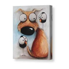 The Odd Guy Canvas Print / Canvas Art by Lucia Stewart - The Odd Guy Canvas Print / Canvas Art by Lucia Stewart Crowded Friday Canvas Print / Canvas Art by Lucia Stewart Mini Canvas Art, Small Canvas, Fall Clip Art, Thing 1, Happy Paintings, Canvas Prints, Art Prints, Klimt, Dog Portraits